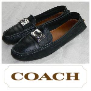 COACH Napoleon LOAFERS Shoes BLACK LEATHER Sz. 6.5